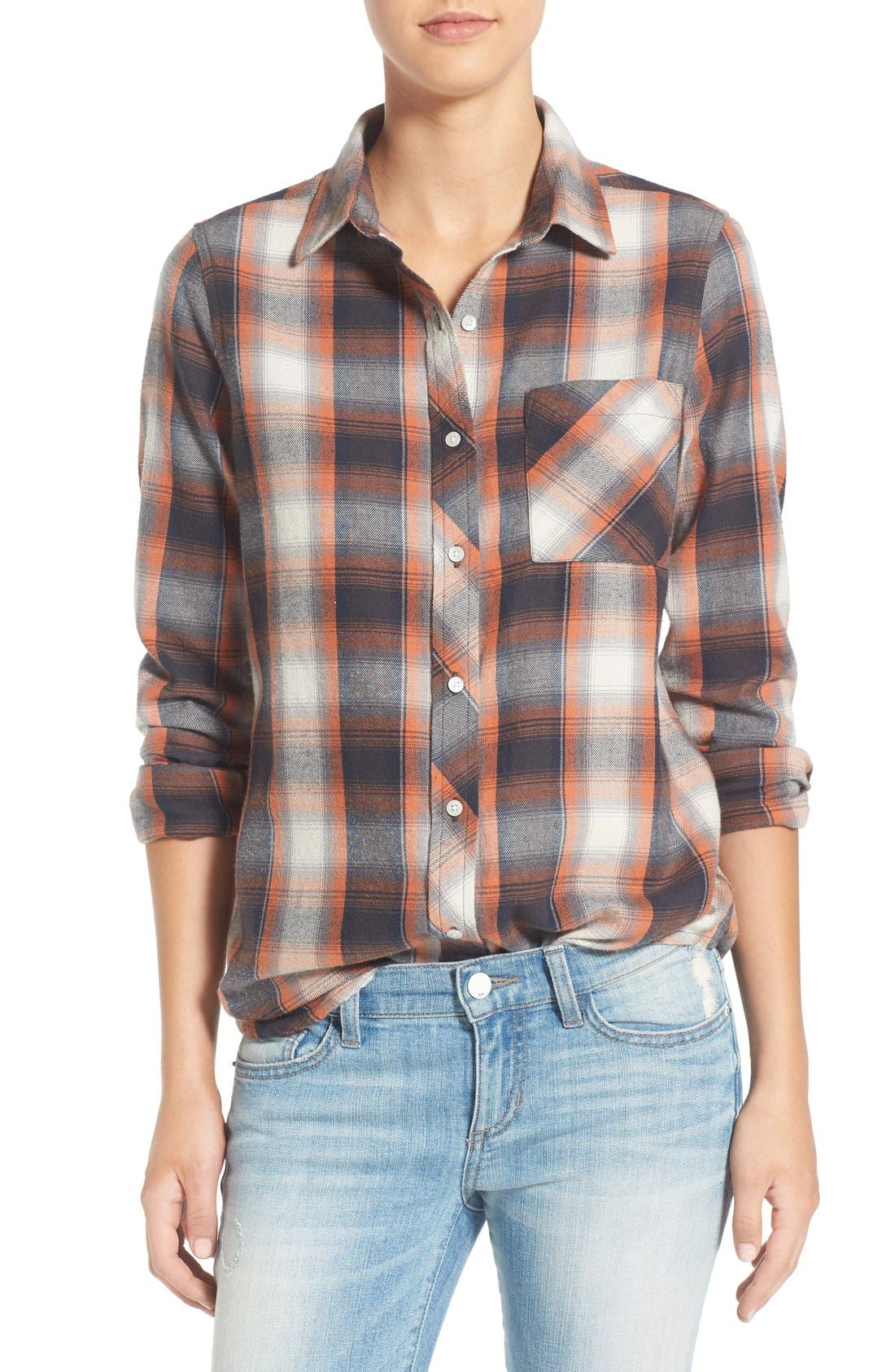Alternate Image 1 Selected - Rip Curl 'Zarca' Plaid Flannel Shirt