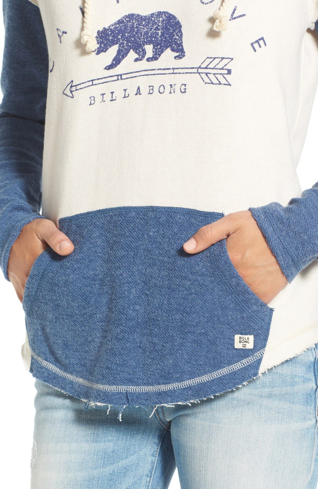 Alternate Image 4  - Billabong 'Cali Days' Colorblock Hoodie