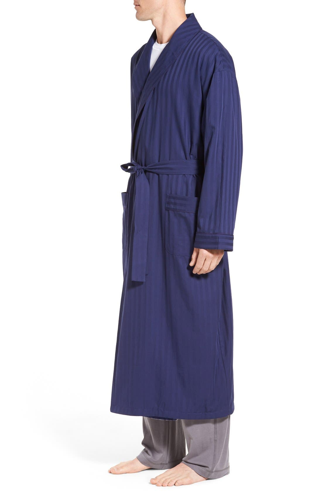 'Get the Blues' Terry Lined Robe,                             Alternate thumbnail 3, color,                             Blue