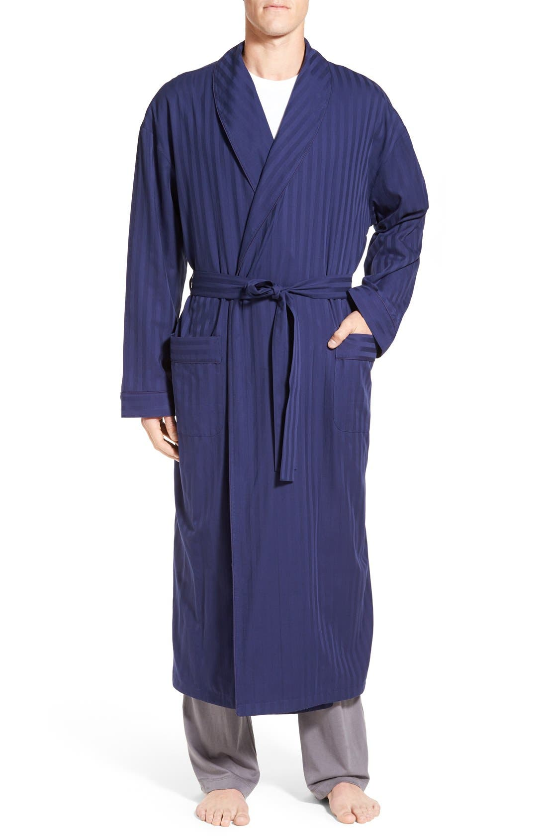 majestic u0027get the bluesu0027 terry lined robe - Terry Cloth Robe