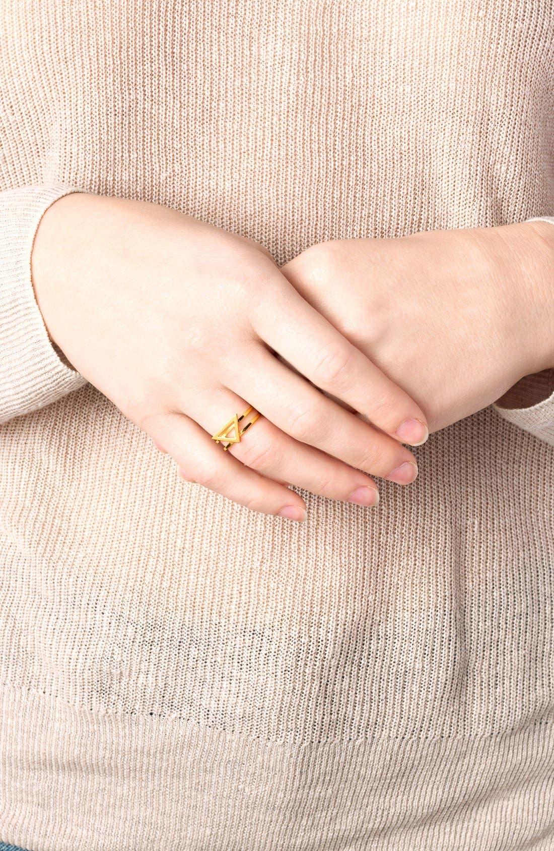 Alternate Image 3  - gorjana 'Anya' Openwork Triangle Ring