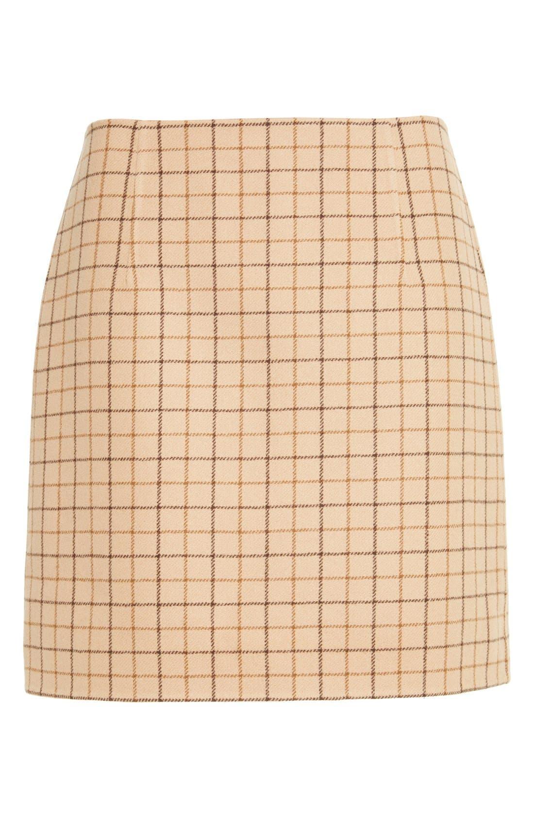 Alternate Image 4  - Michael Kors Plaid Wool A-Line Skirt
