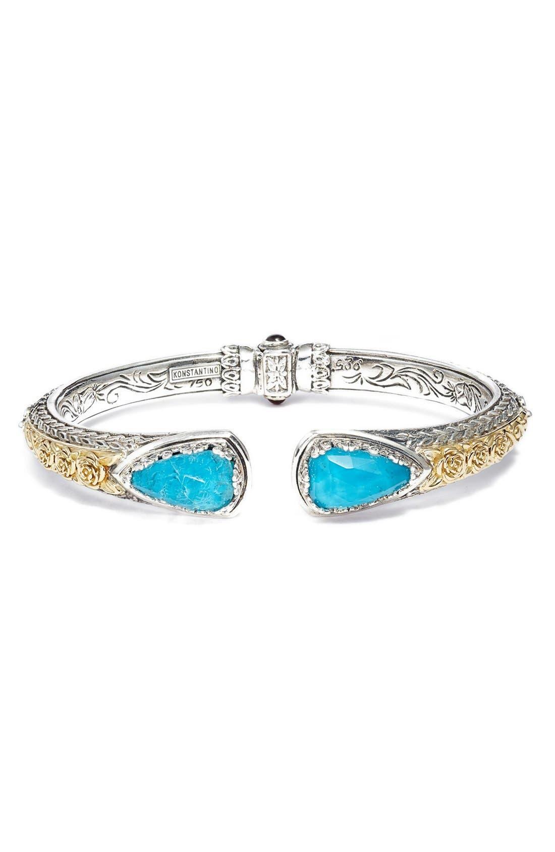 'Iliada' Stone Cuff,                             Main thumbnail 1, color,                             Blue/ Green