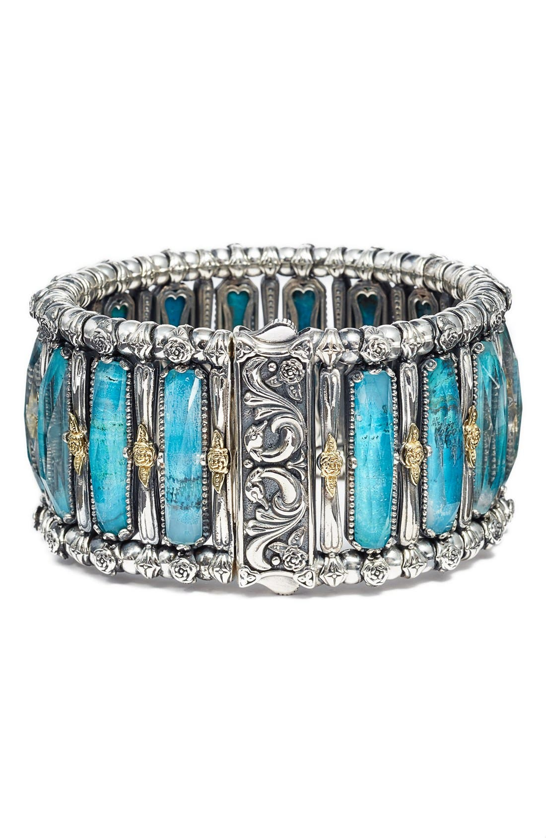'Iliada' Stone Bracelet,                             Alternate thumbnail 2, color,                             Blue/ Green