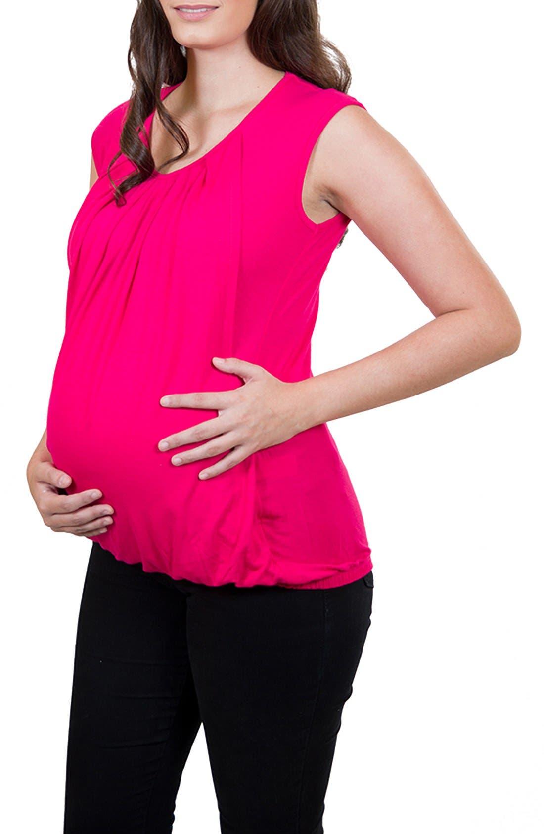 Nurture-Elle Pleated Sleeveless Nursing Top