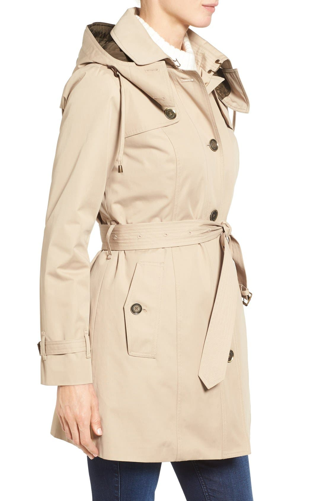Alternate Image 3  - London Fog Single Breasted Trench Coat (Regular & Petite)