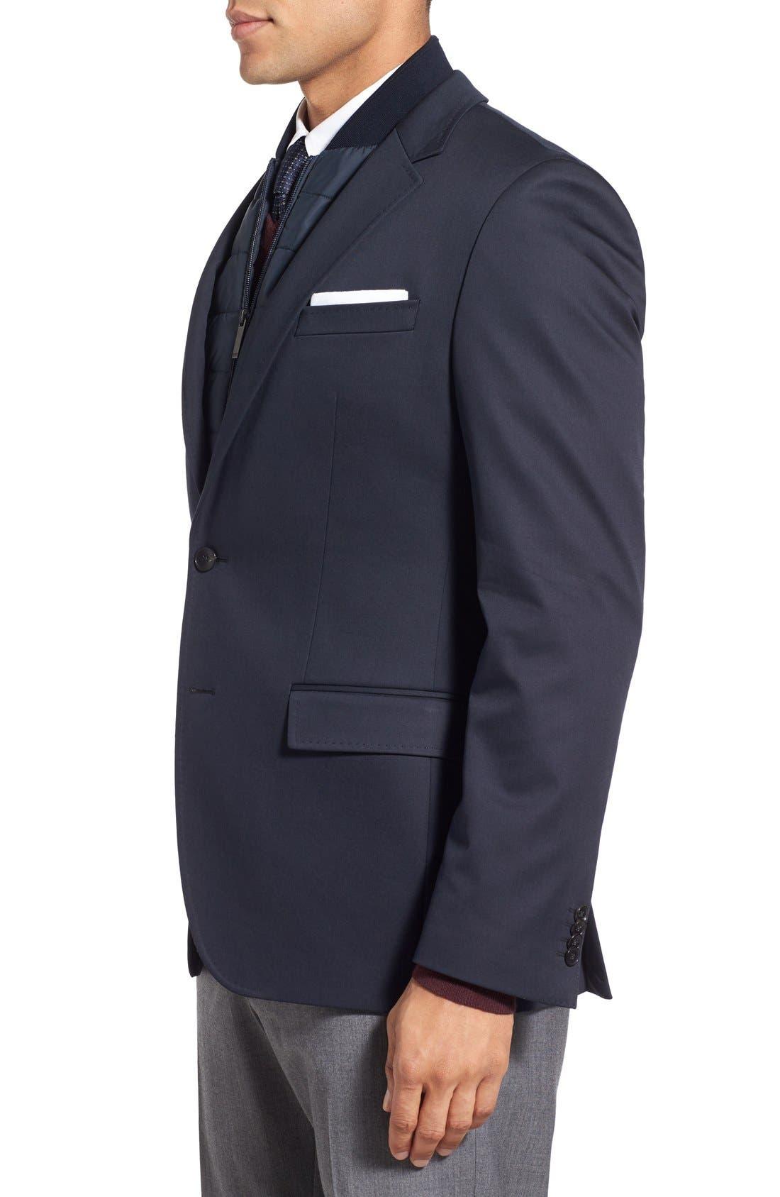 Alternate Image 3  - BOSS 'Hadwart' Trim Fit Cotton Blend Blazer
