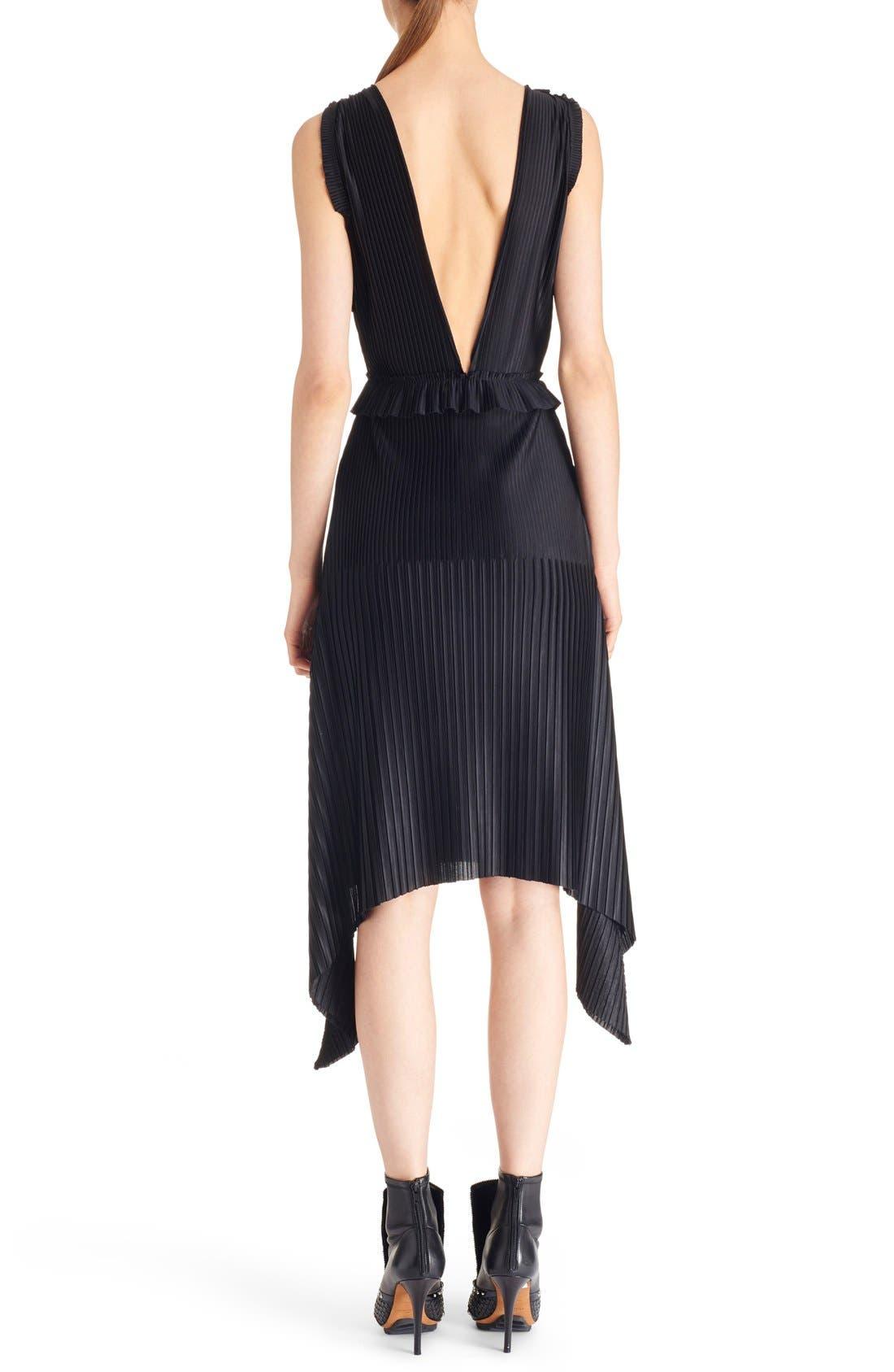 Alternate Image 2  - Givenchy V-Neck Pleated Jersey Dress