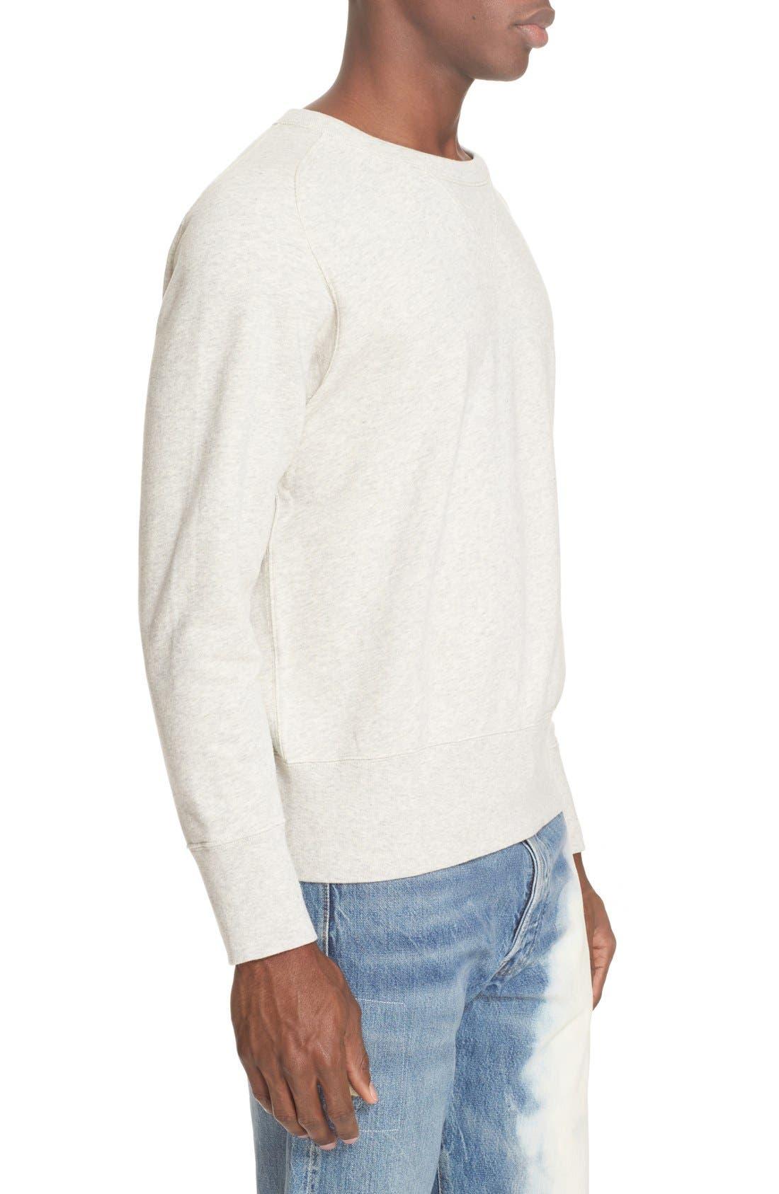 Bay Meadows Sweatshirt,                             Alternate thumbnail 3, color,                             White