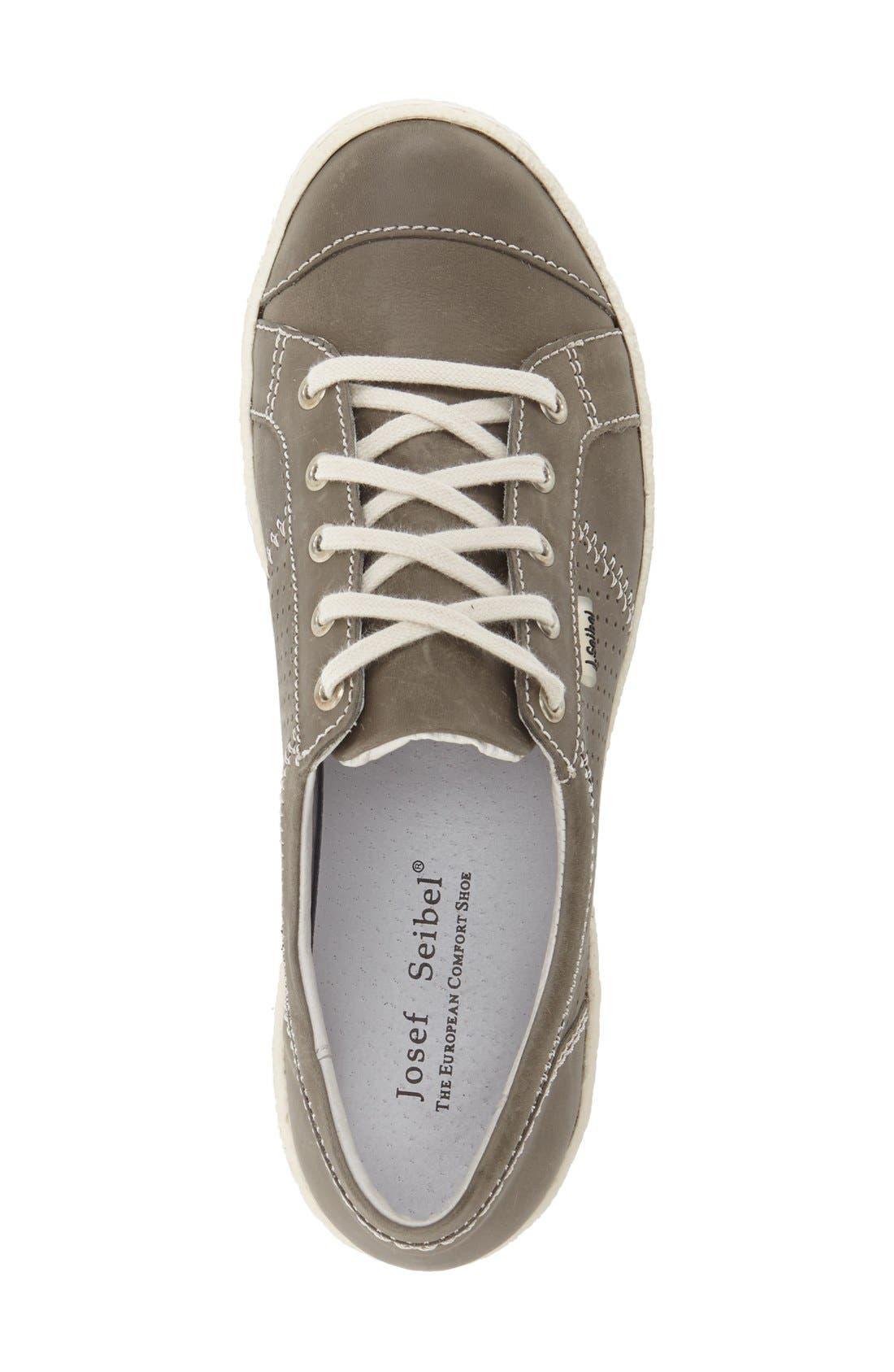 'Caspian' Sneaker,                             Alternate thumbnail 3, color,                             Grigio Leather