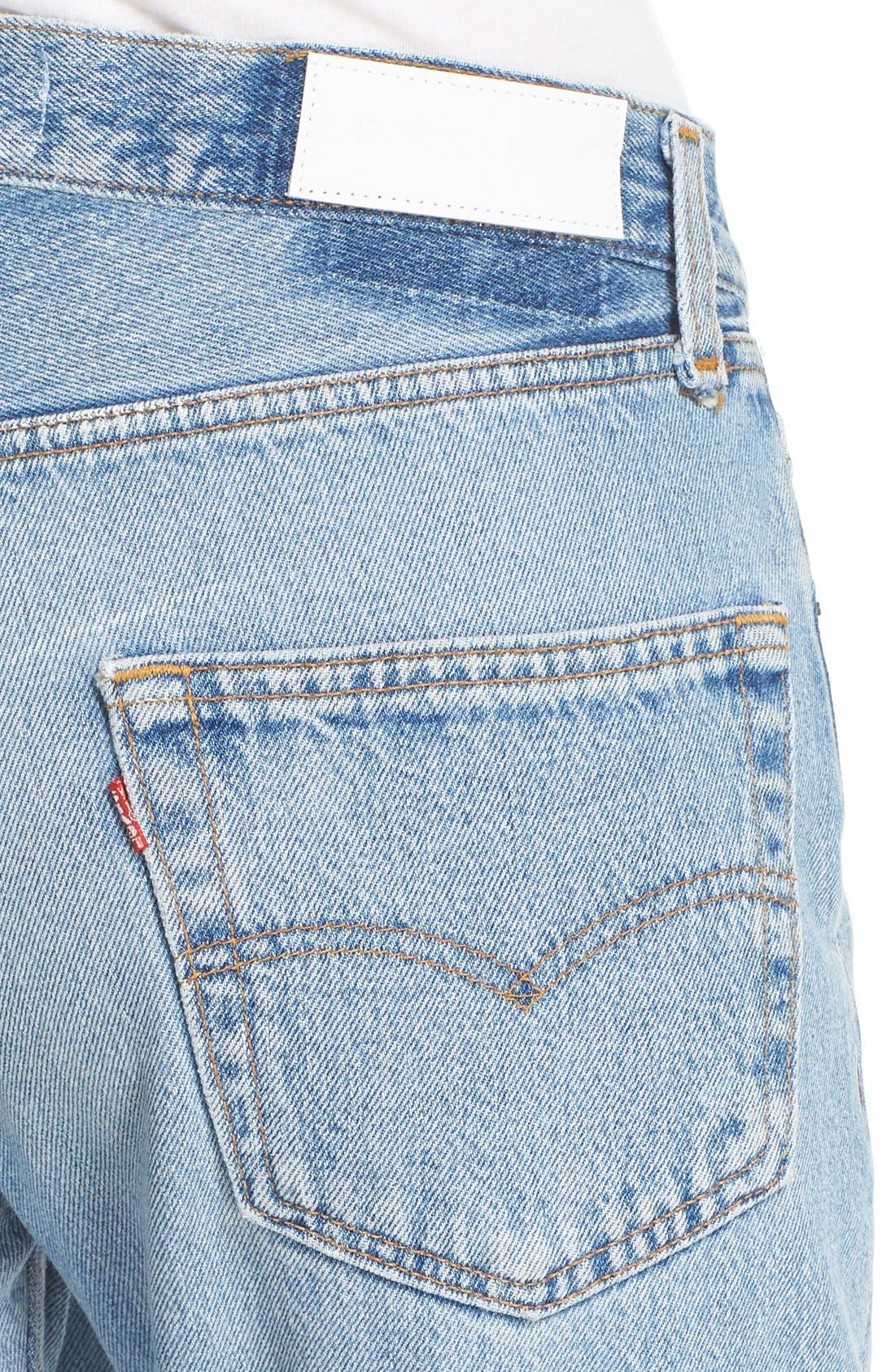 'The Relaxed Crop' Reconstructed Jeans,                             Alternate thumbnail 4, color,                             No Destruction