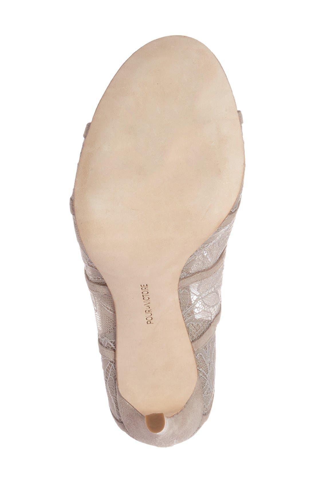 Alternate Image 4  - Pour la Victoire 'Ellery' Lace-Up Sandal (Women)