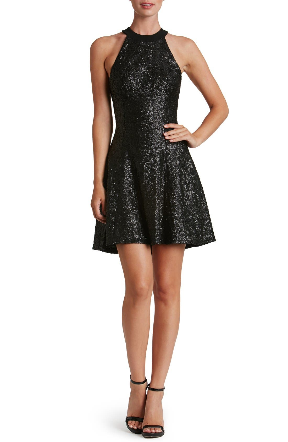 Main Image - Dress the Population 'Anni' Sequin Minidress