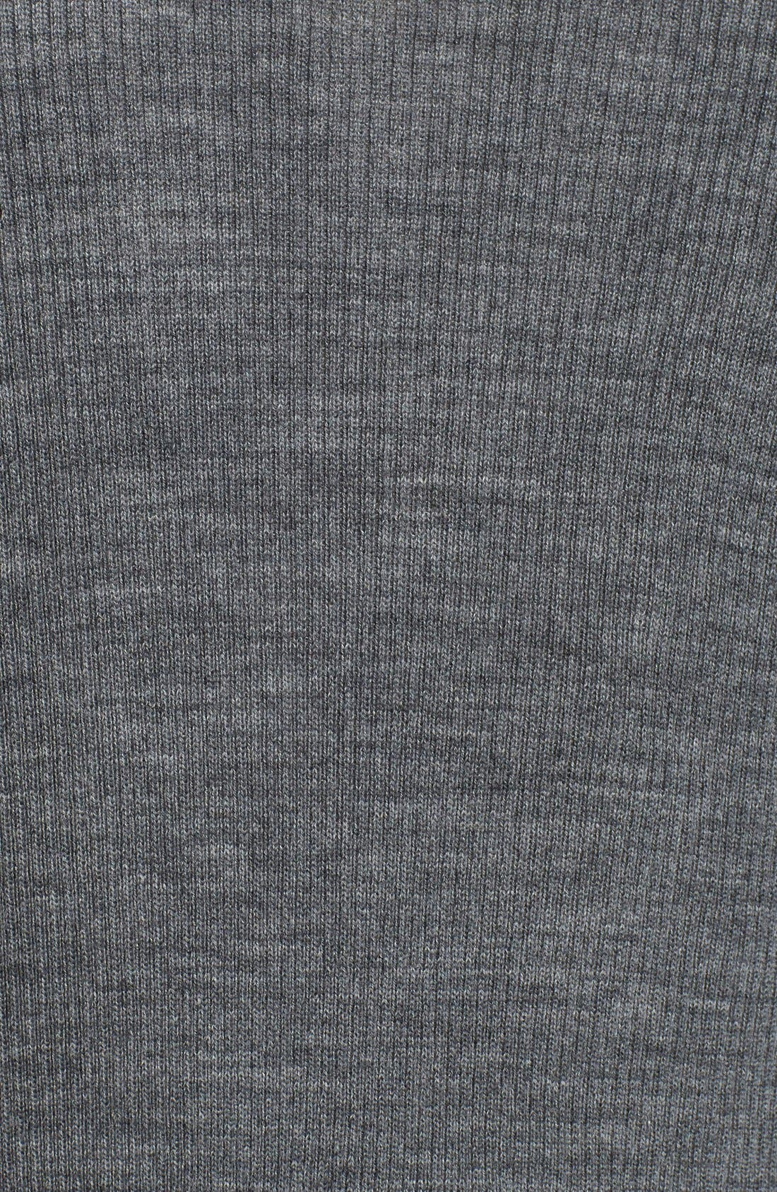 Rib Knit Wool Blend Cardigan,                             Alternate thumbnail 6, color,                             Heather Dark Grey