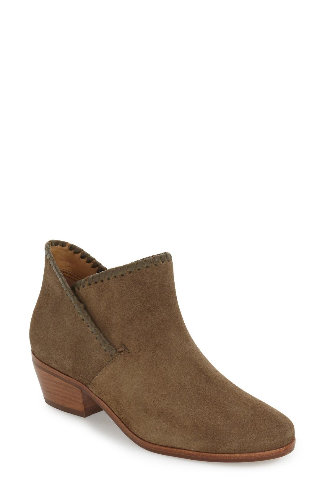 'Sadie' Bootie,                         Main,                         color, Olive Suede