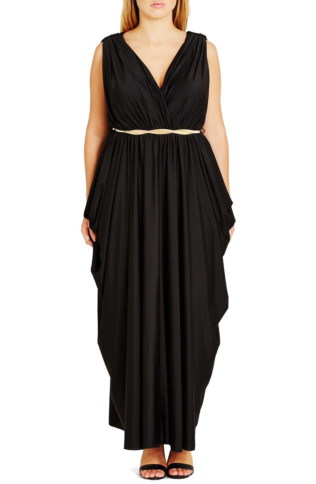 Alternate Image 1 Selected - City Chic 'Athena Goddess' Maxi Dress (Plus Size)