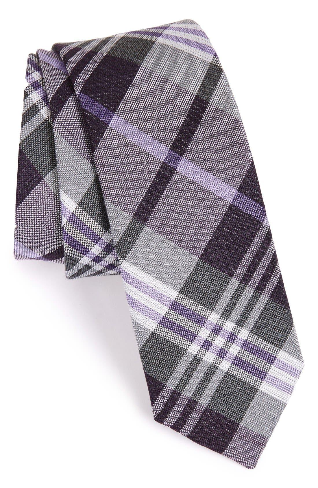 Alternate Image 1 Selected - The Tie Bar Plaid Silk & Linen Tie