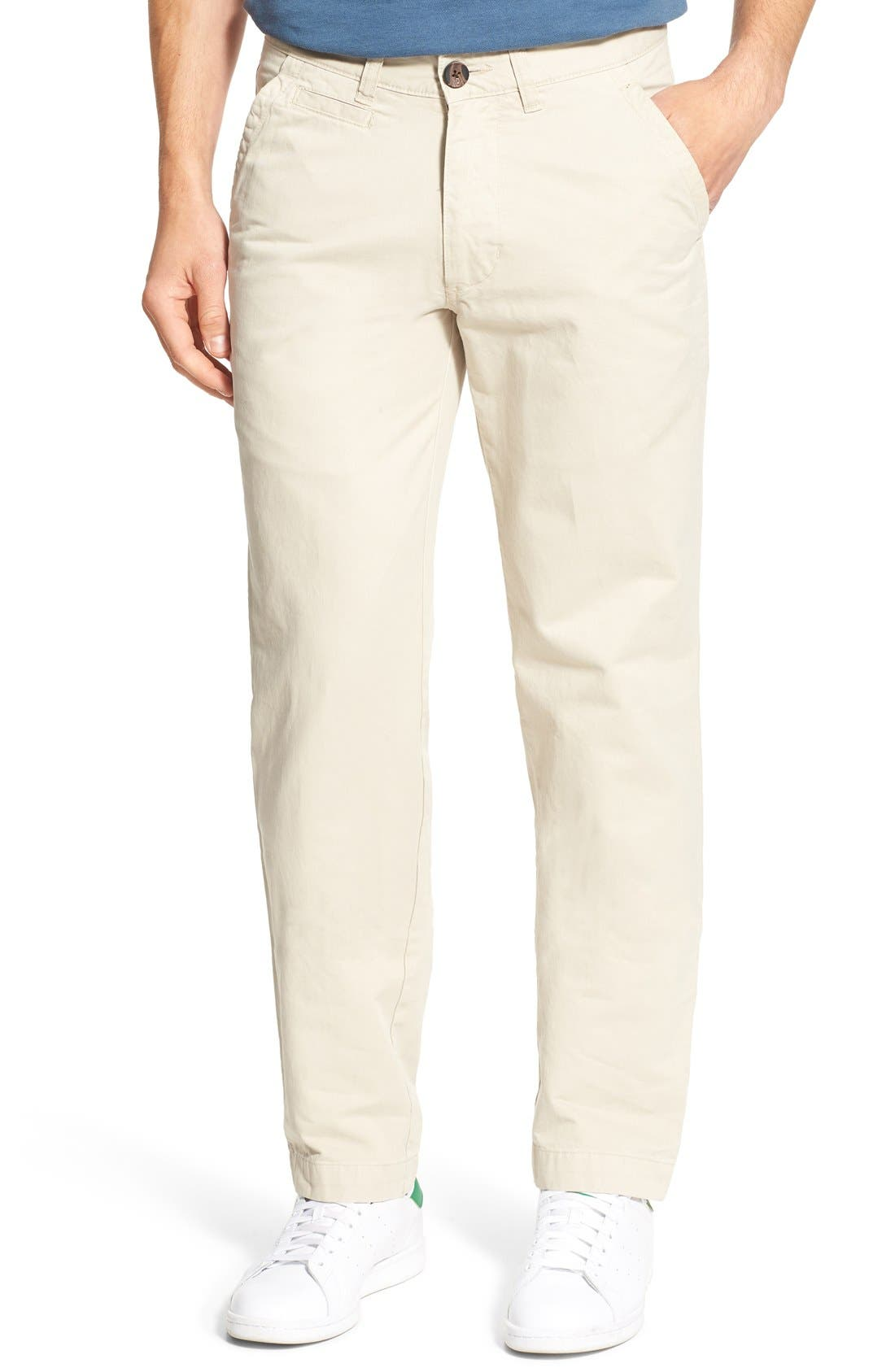 'Sahara' Trim Fit Vintage Washed Twill Chinos,                         Main,                         color, Stone
