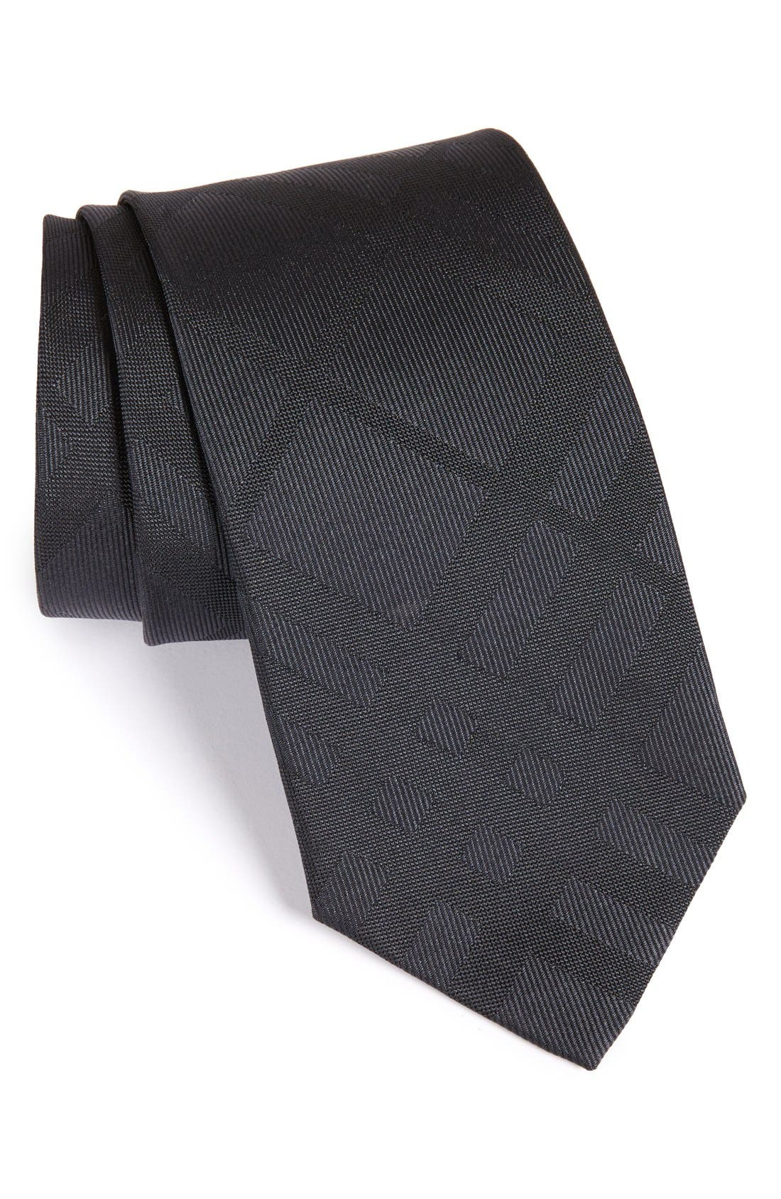 Forevers Check Silk Tie,                         Main,                         color, Charcoal