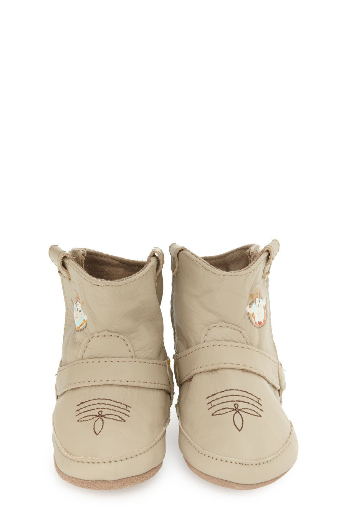 'Disney<sup>®</sup> Woody<sup>®</sup> Bootie' Crib Shoe,                             Alternate thumbnail 3, color,                             Taupe