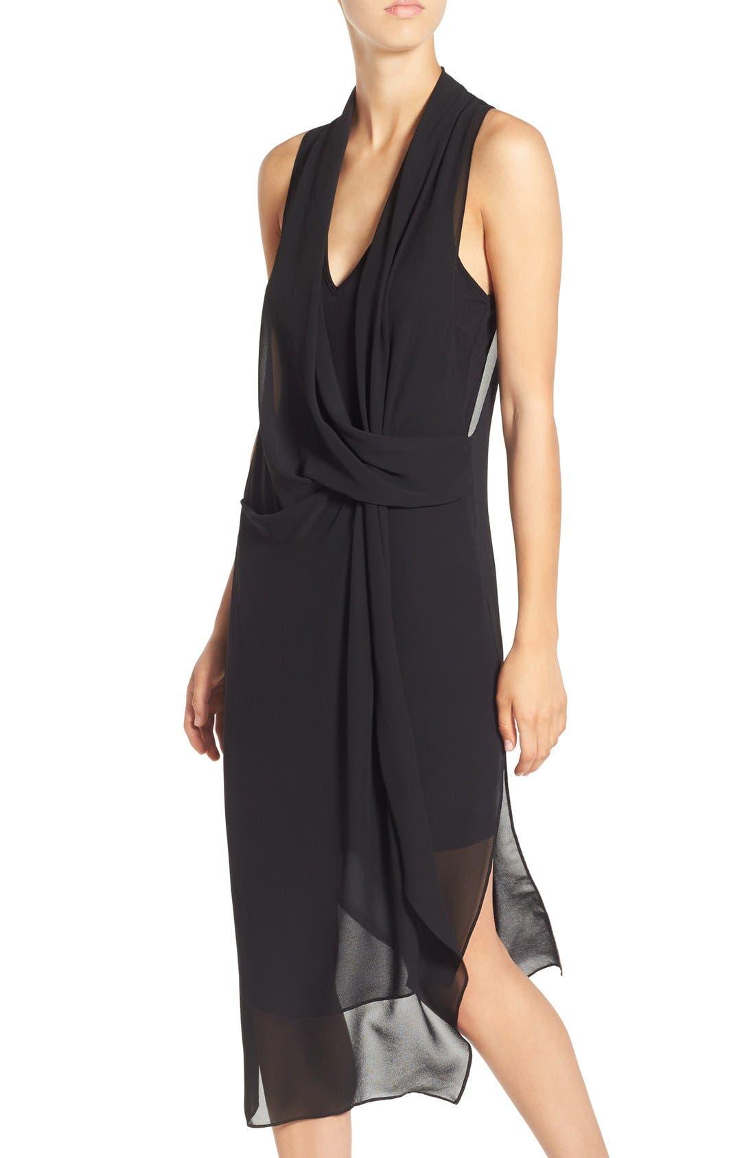 Alternate Image 3  - ASTR Gathered Front Layer Dress