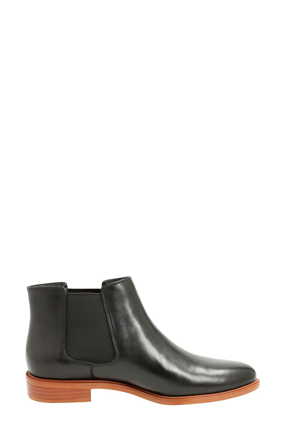 'Taylor Shine' Chelsea Boot,                             Alternate thumbnail 2, color,                             Black Leather