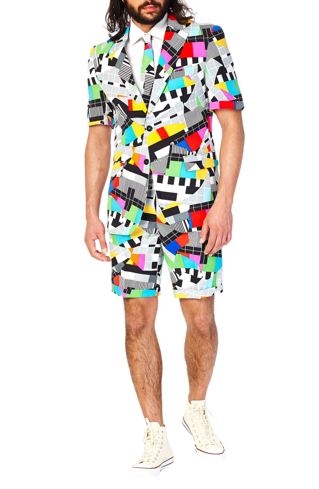 Main Image - OppoSuits 'Testival - Summer' Trim Fit Two-Piece Short Suit with Tie