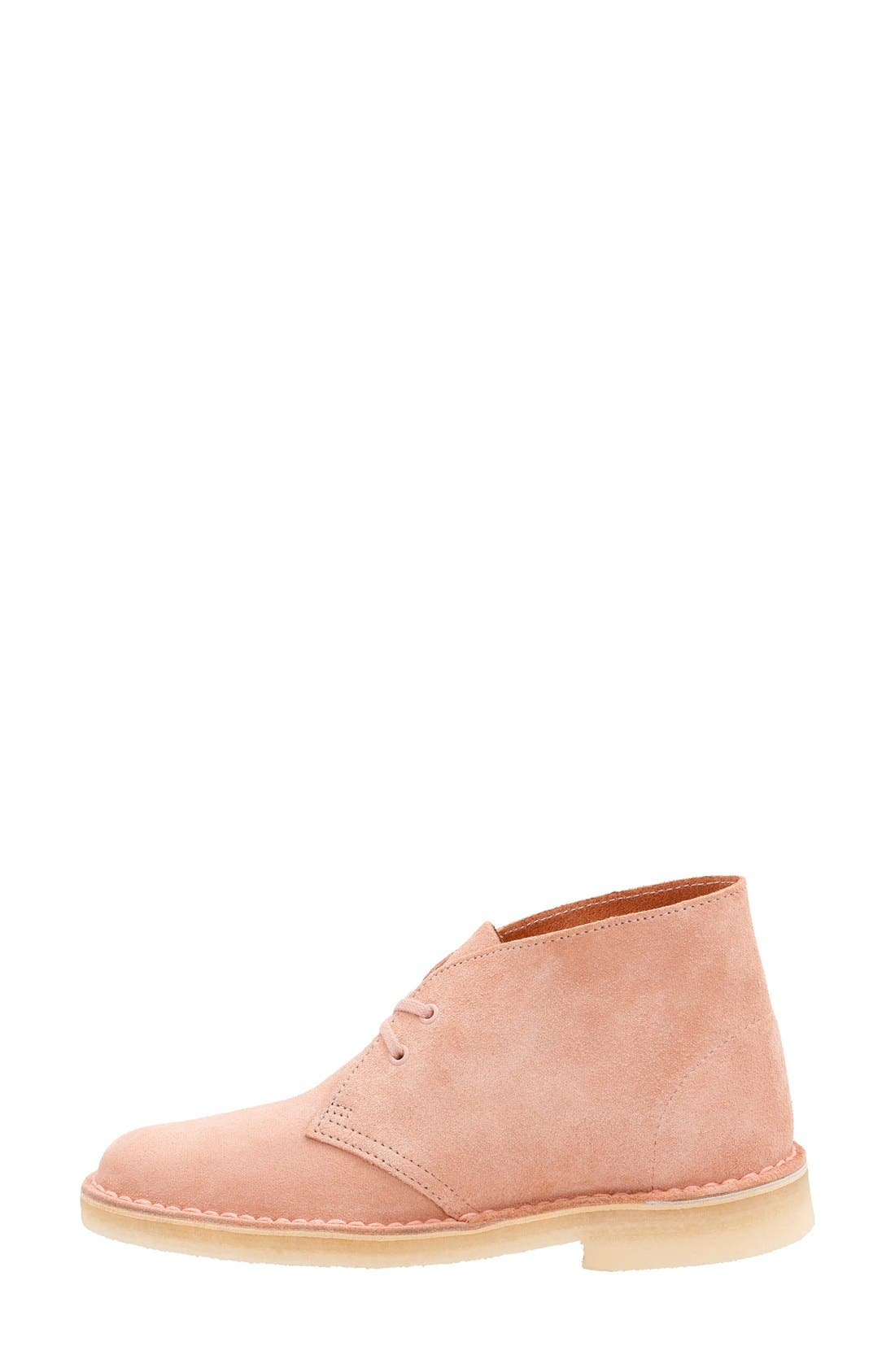 'Desert' ChukkaBoot,                             Alternate thumbnail 2, color,                             Dusty Pink Suede