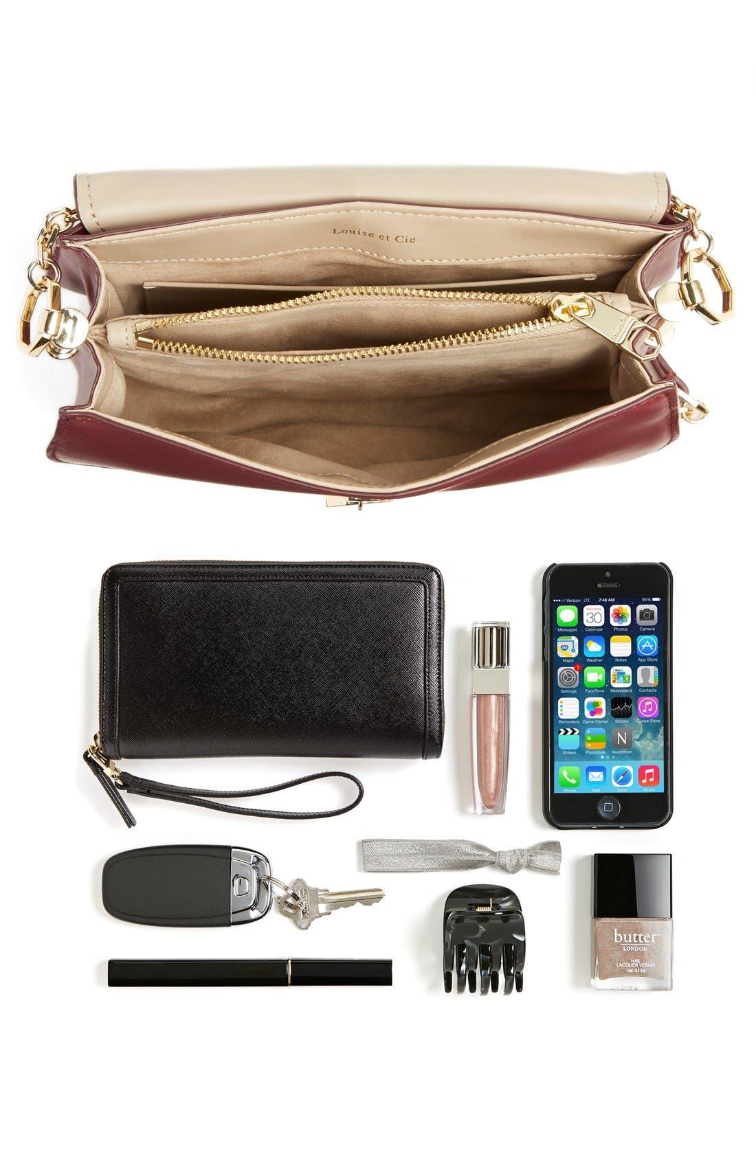 Alternate Image 6  - Louise et Cie 'Jael' Suede & Leather Shoulder Bag