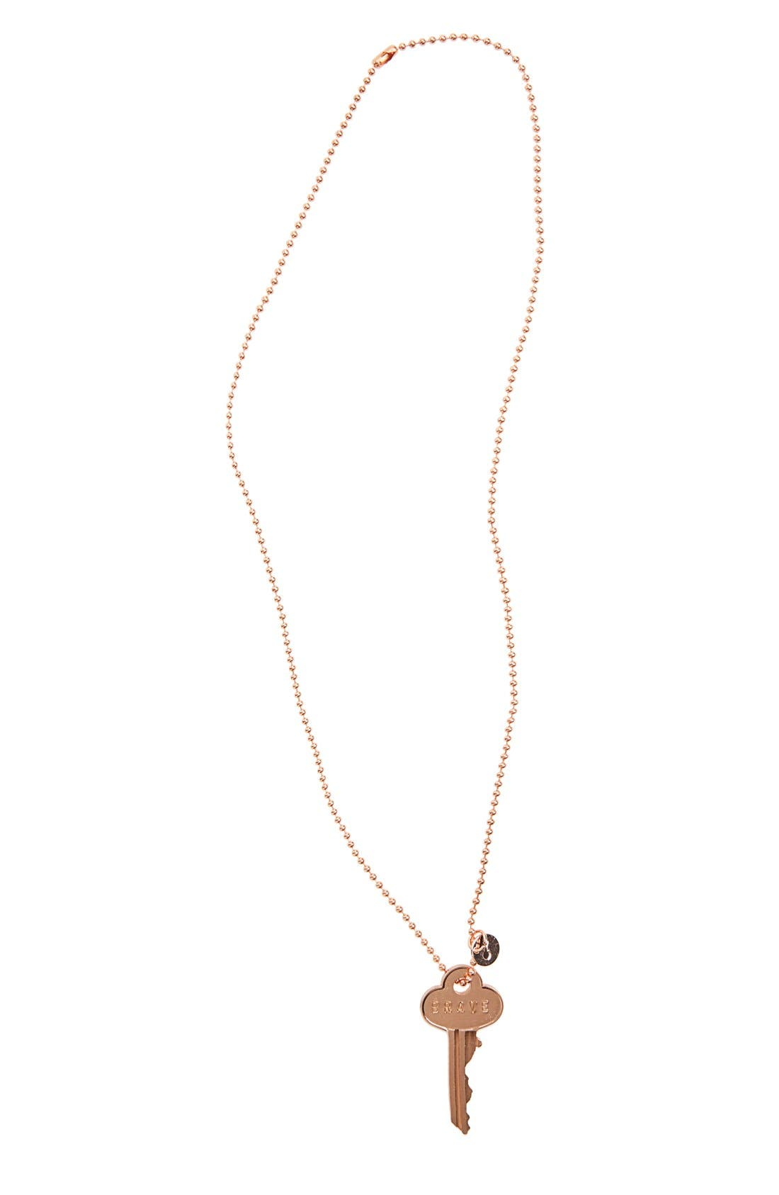 The Giving Keys 'Classic - Brave' 27-Inch Key Pendant Necklace