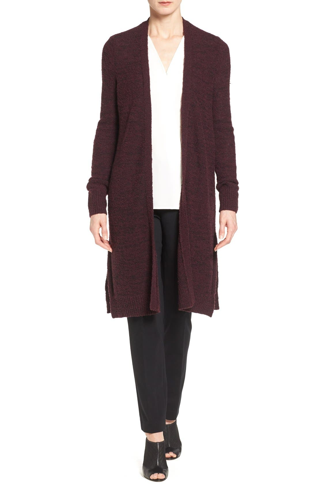 Alternate Image 1 Selected - Halogen® Long Side Slit Cardigan (Regular & Petite)