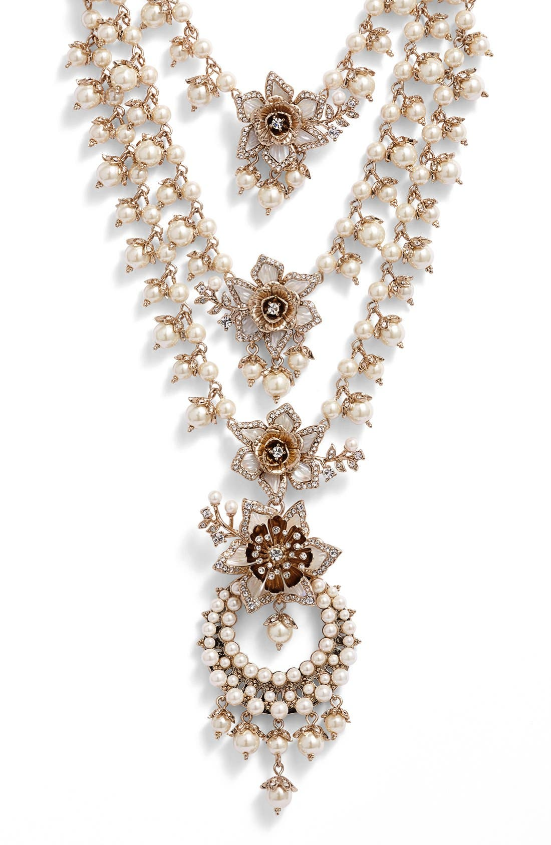 Main Image - Marchesa Faux Pearl Multistrand Statement Necklace