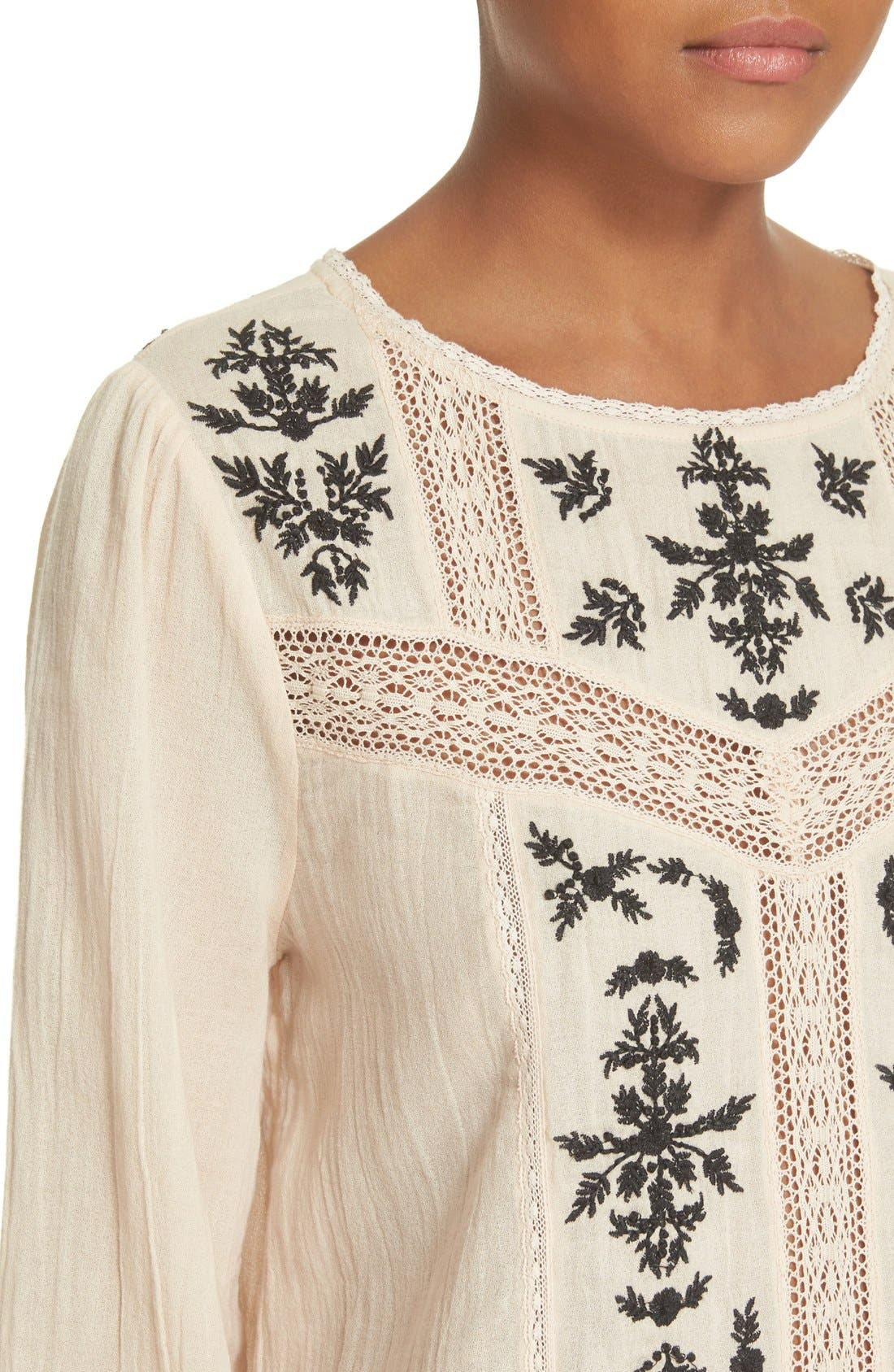 Alternate Image 4  - Joie 'Oakes' Embroidered Cotton Blouse