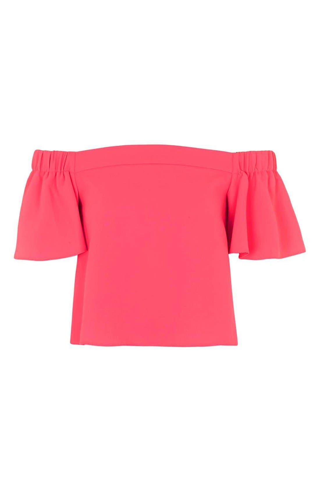 Alternate Image 4  - Topshop 'Livi' Off the Shoulder Top (Regular & Petite)
