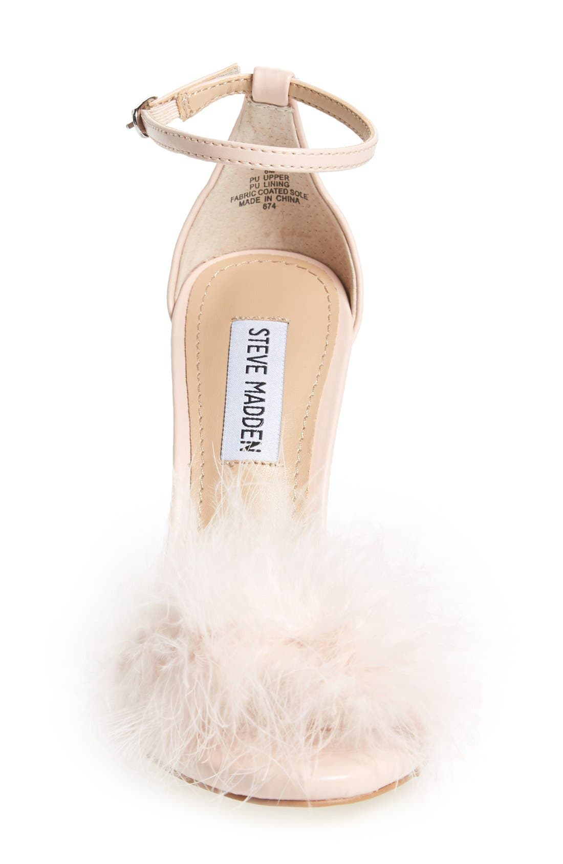 Alternate Image 3  - Steve Madden 'Scarlett' Marabou Evening Sandal (Women)