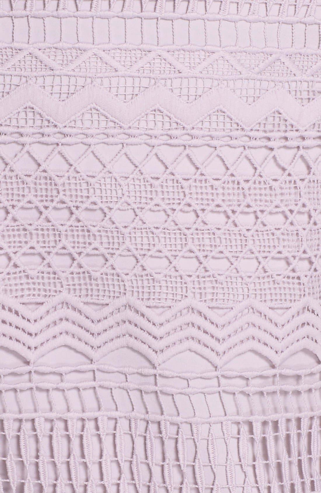 Alternate Image 6  - Bardot 'Lily' Strapless Lace Midi Dress