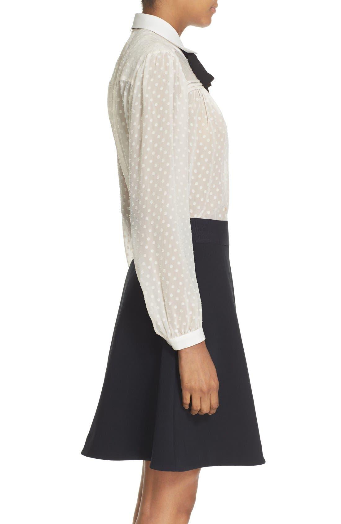 Alternate Image 4  - kate spade new york clipped chiffon bow blouse