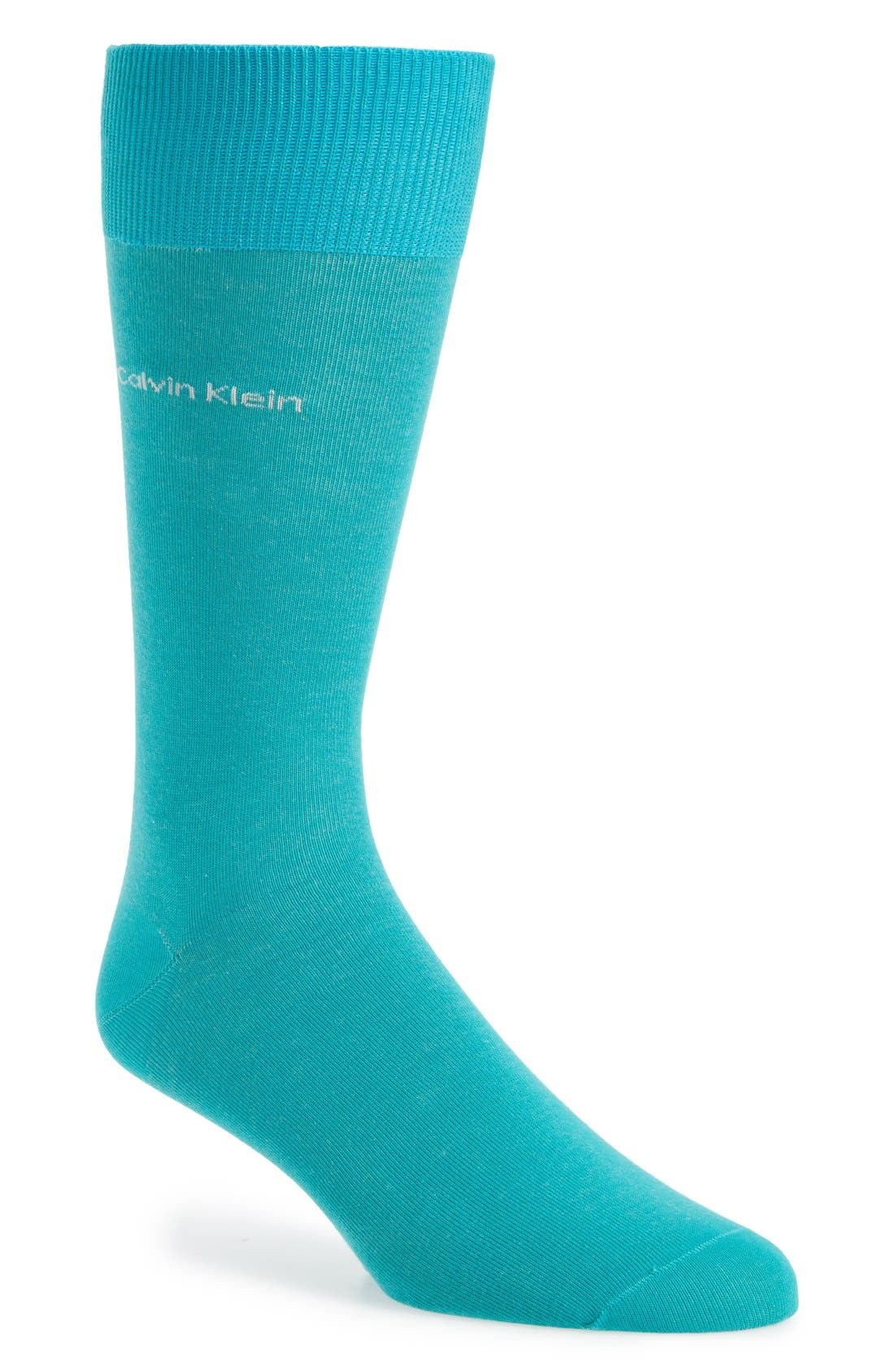 'Giza' Socks,                             Main thumbnail 1, color,                             Aqua