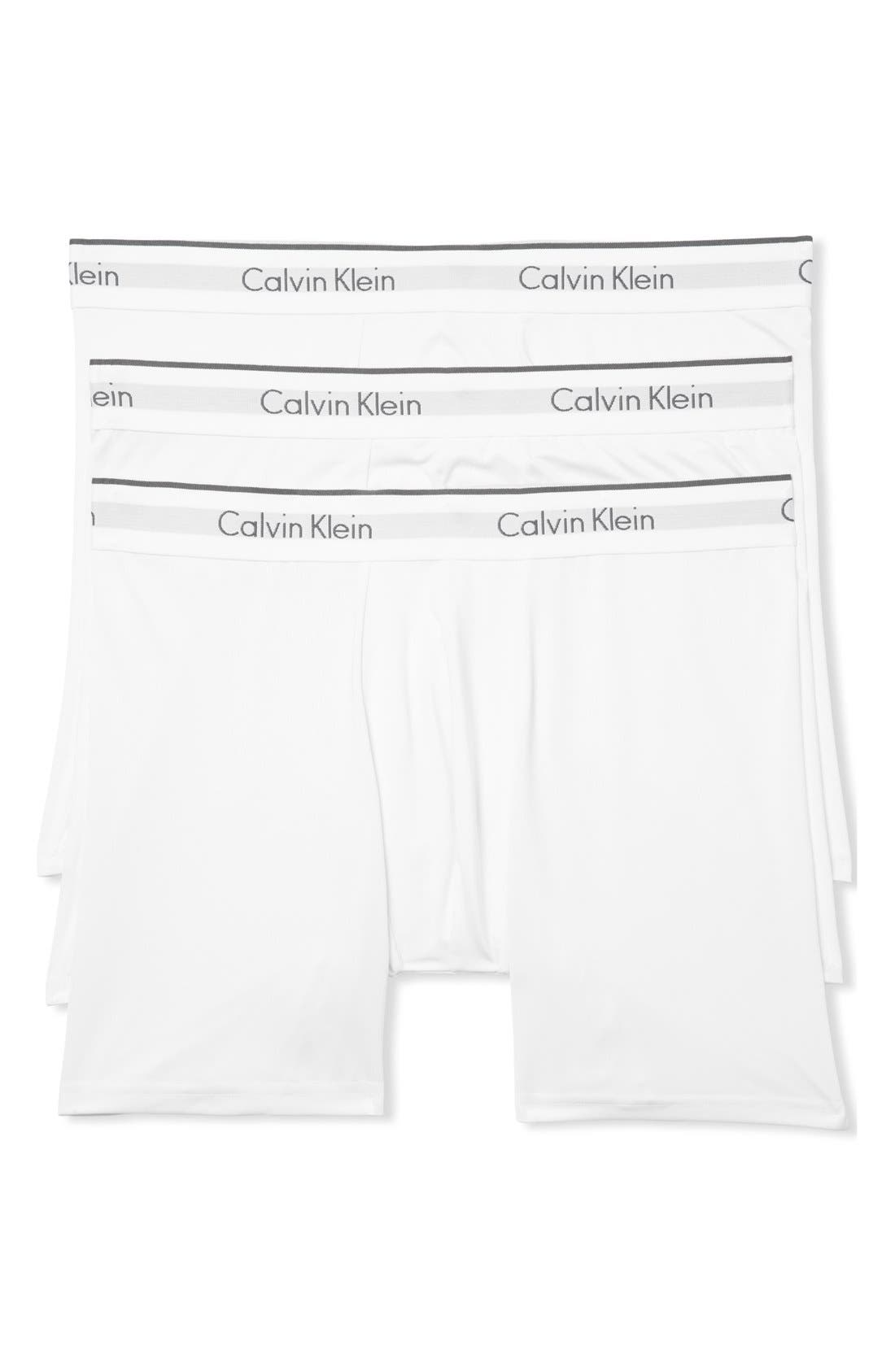3-Pack Stretch Boxer Briefs,                         Main,                         color, White