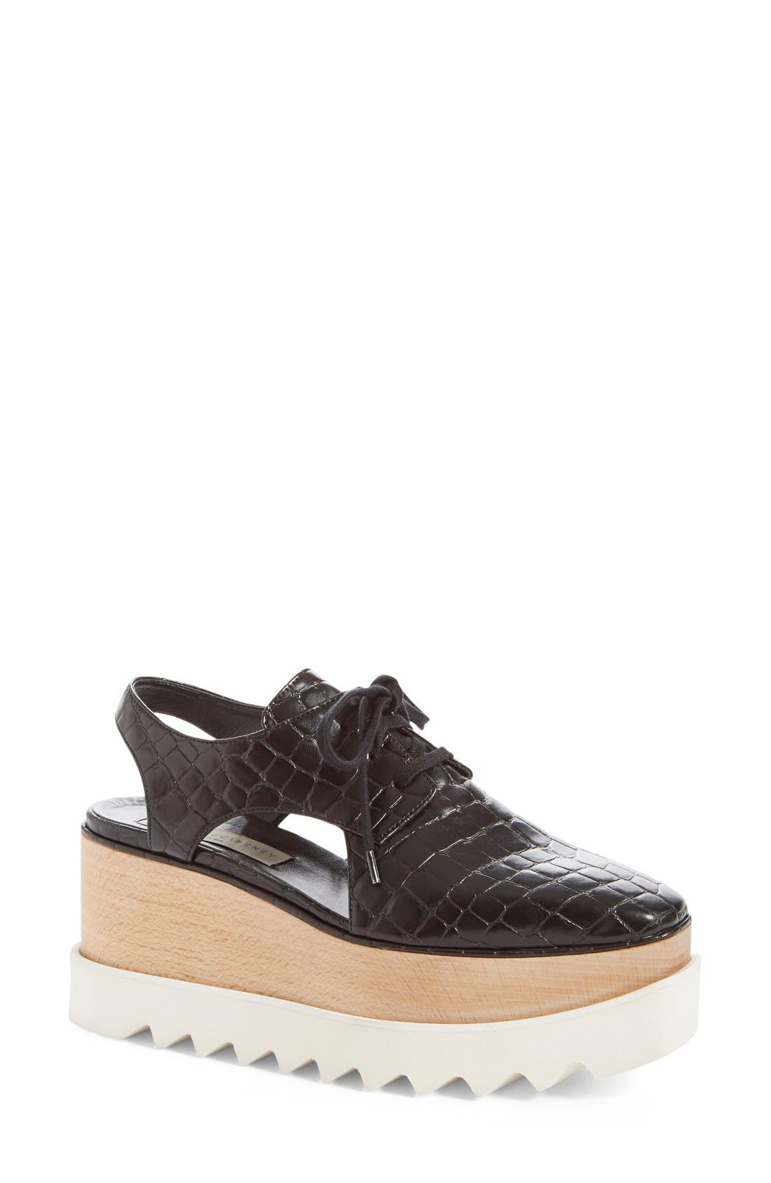 Alternate Image 1 Selected - Stella McCartney 'Elyse' Cutout Platform Oxford (Women)
