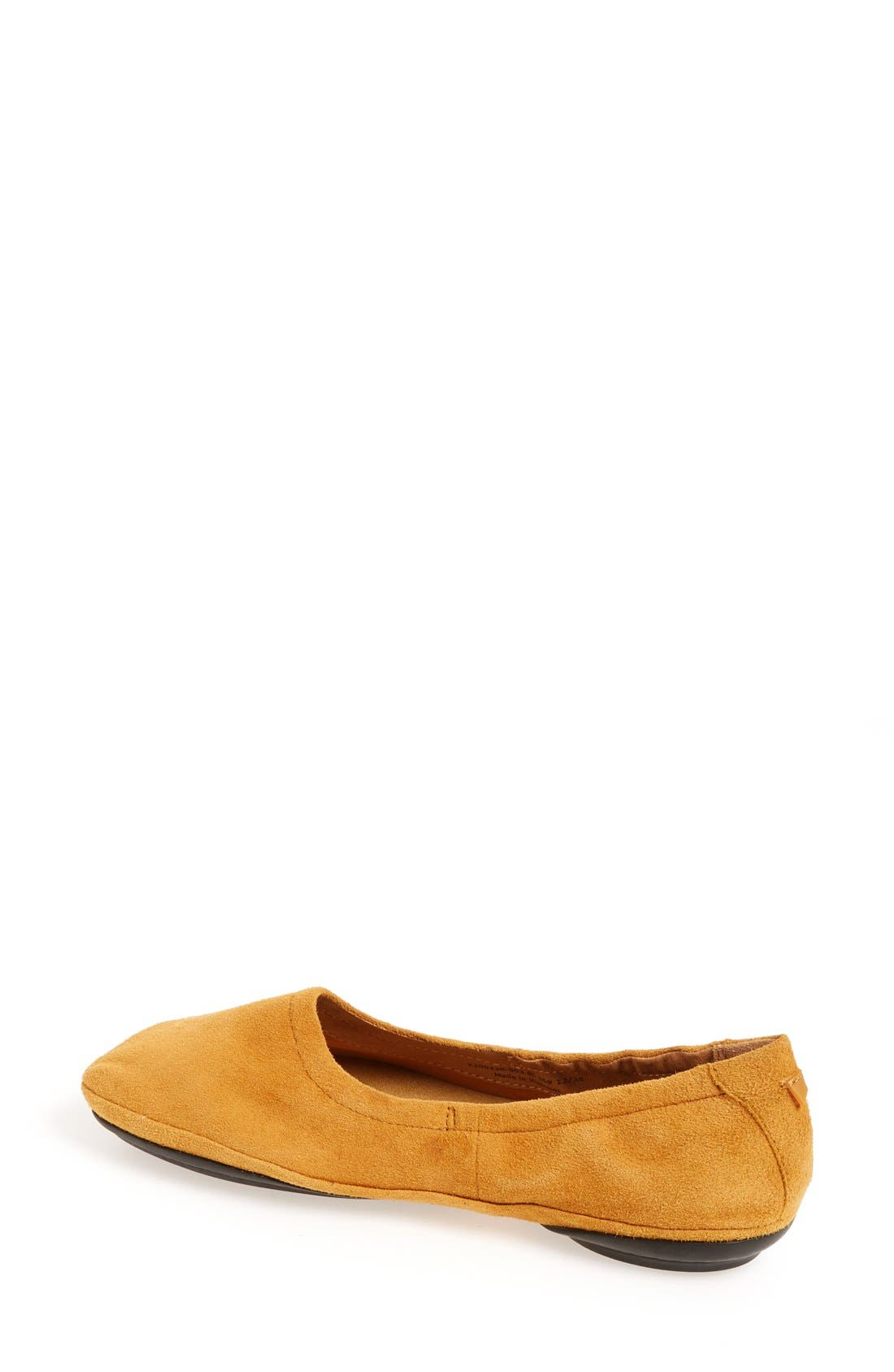 'Right Nina' Ballet Flat,                             Alternate thumbnail 2, color,                             Mustard Suede