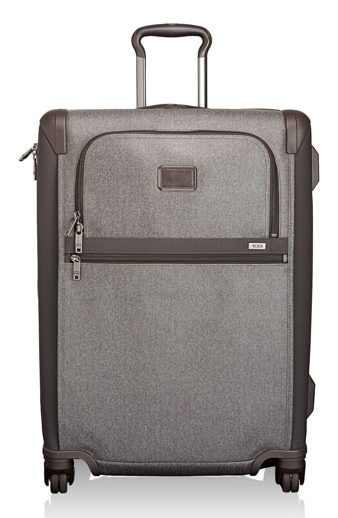 Alpha 2 Short Trip 26-Inch Rolling Four Wheel Packing Case,                             Main thumbnail 1, color,                             Earl Grey
