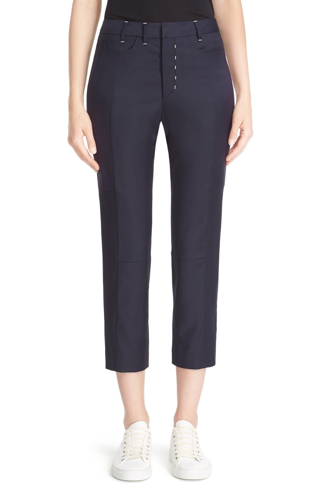 Colovos Stovepipe Wool Crop Pants