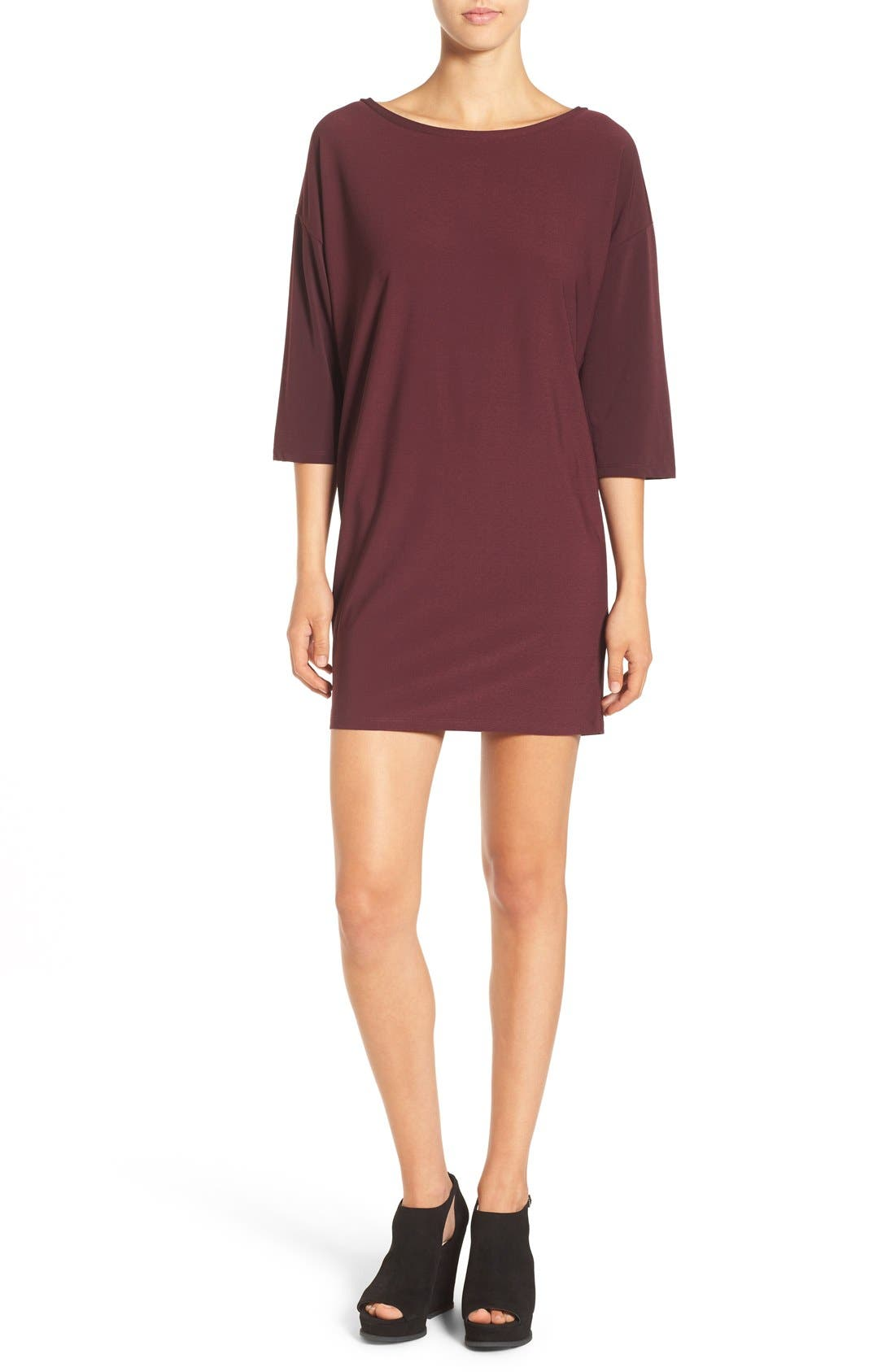 Dolman Dress,                             Main thumbnail 1, color,                             Burgundy Stem