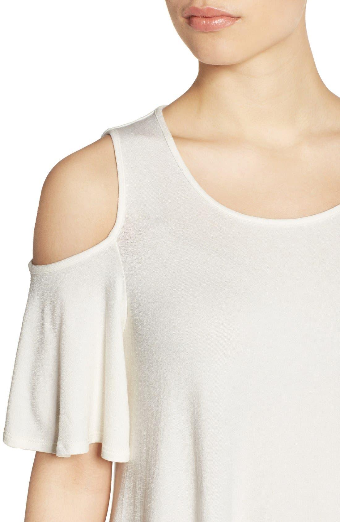 Alternate Image 4  - Bobeau Cold Shoulder Short Sleeve Top