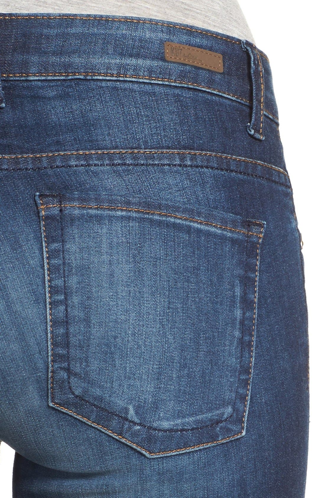 Alternate Image 4  - KUT from the Kloth 'Natalie' Stretch Bootcut Jeans (Adaptive) (Regular & Petite)