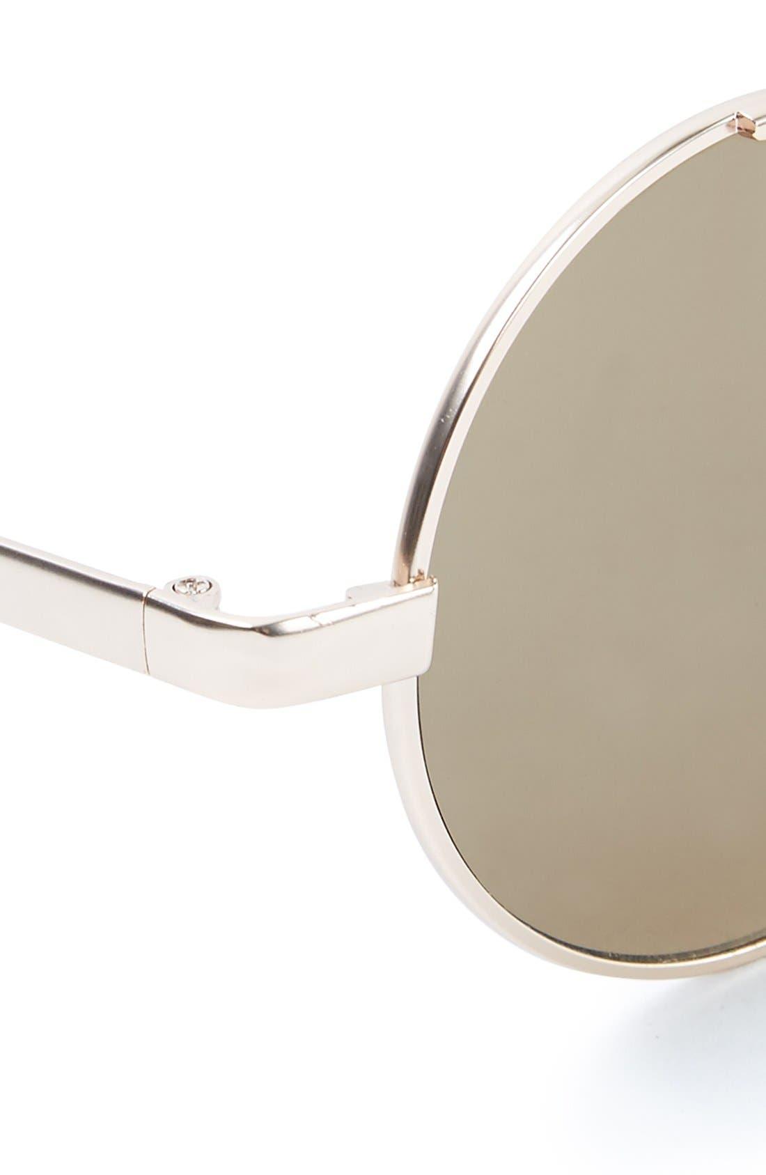 Alternate Image 2  - Topman 49mm Round Metal Sunglasses