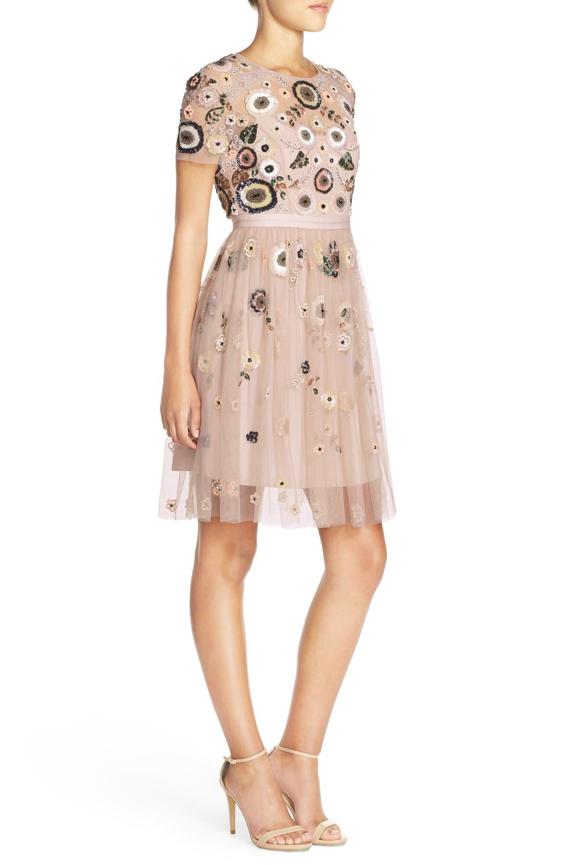 Alternate Image 3  - Needle & Thread 'Woodland' Embellished Tulle Fit & Flare Dress