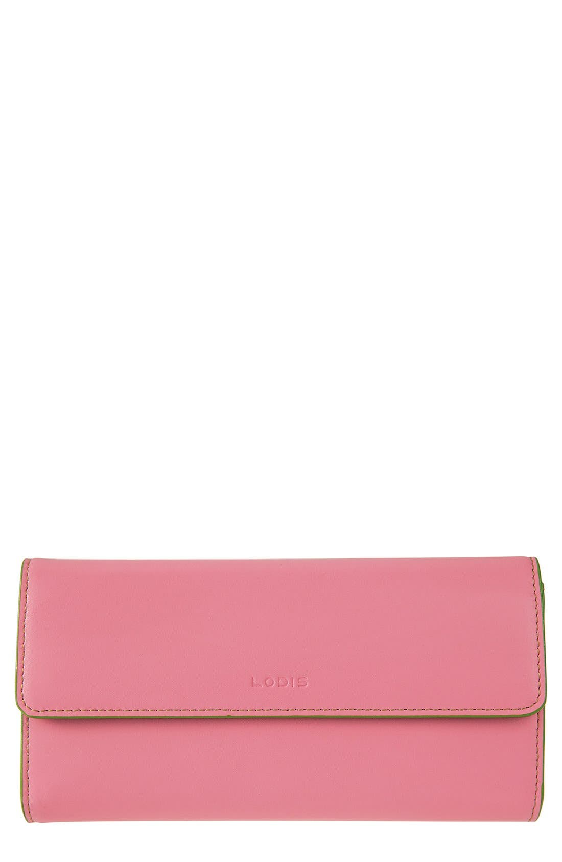 Main Image - Lodis 'Audrey' Checkbook Clutch Wallet