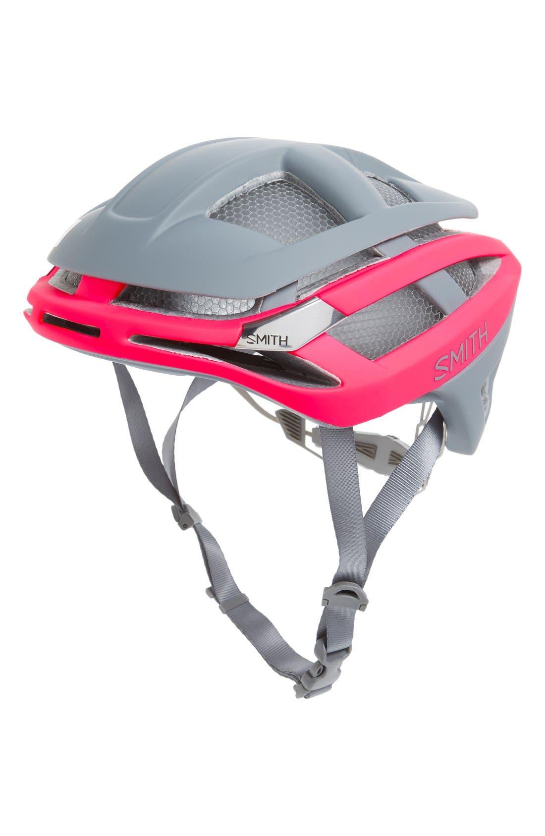 'Overtake With Aerocore(Tm) Featuring Koroyd' Biking Racer Helmet - Pink, Matte Pink/ Charcoal